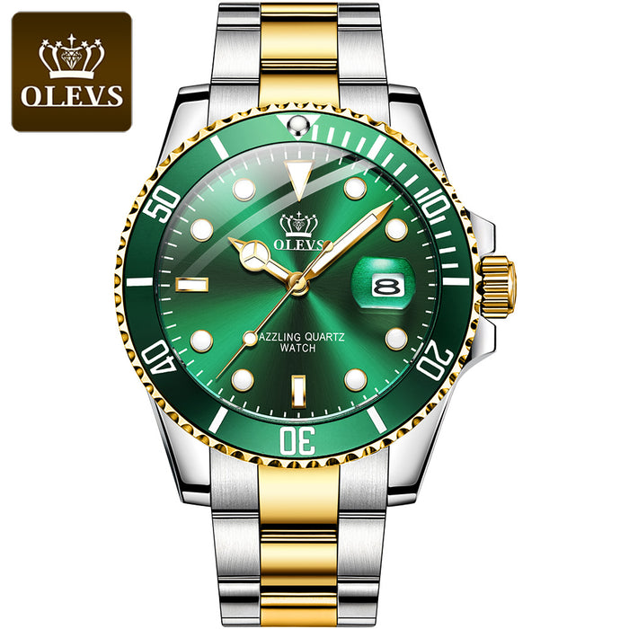 Green Water Ghost Quartz Watch Waterproof Men's Watch