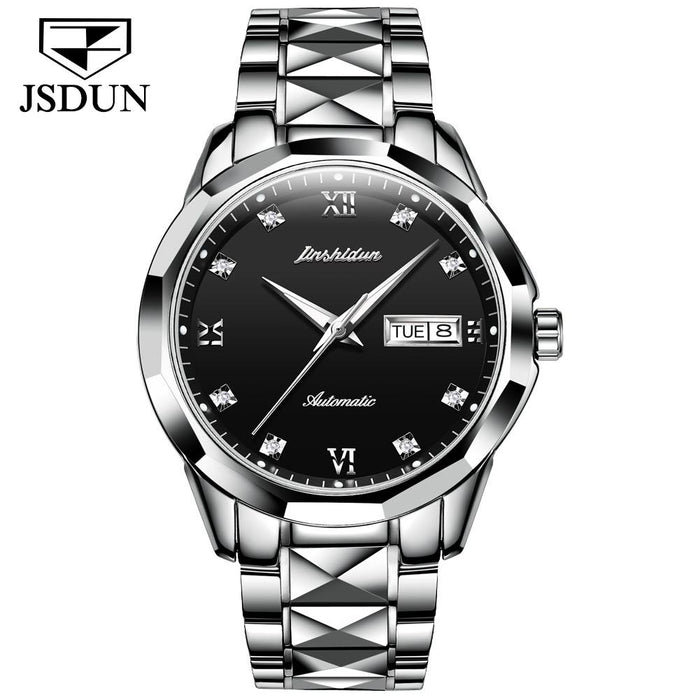 Tungsten Steel Waterproof Automatic Mechanical Business Men's Watch