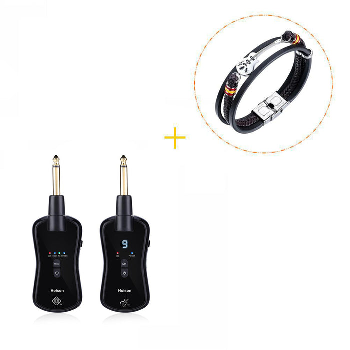 Hoison S8 Wireless Guitar System Wireless Audio Electric Guitar Transmitter Receiver 10 Channels Transmission Range High Frequency