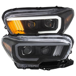 Anzo Black Plank Style Project Headlights - 2016+ Toyota Tacoma TRD Models (111379) - TheYotaGarage