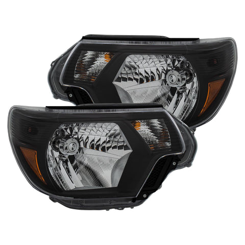 Anzo Black Halogen Headlight 2012-2015 Toyota Tacoma (111395) - TheYotaGarage
