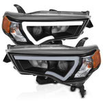 Anzo Black Plank Style Projector Headlights - 2014+ Toyota 4Runner (111416) - TheYotaGarage