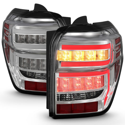 ANZO Rear Tail Light Chrome Housing Clear Lens - 2014+ Toyota 4Runner (311313) - TheYotaGarage