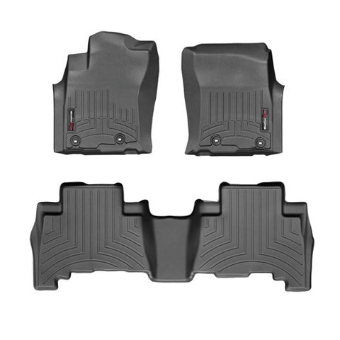 WeatherTech Front & Rear DigitalFit FloorLiner | Black - 2014+ Toyota 4Runner - TheYotaGarage