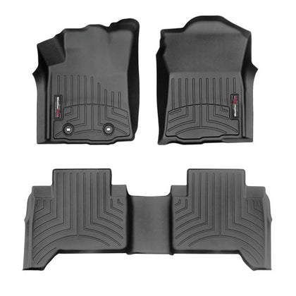 WeatherTech Front & Rear DigitalFit FloorLiner | Black - 2016+ Toyota Tacoma - TheYotaGarage