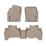WeatherTech Front & Rear DigitalFit FloorLiner | Tan - 2014+ Toyota 4Runner - TheYotaGarage