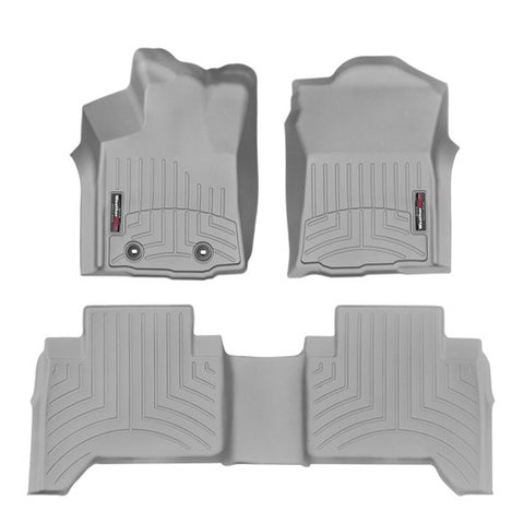 WeatherTech Front & Rear DigitalFit FloorLiner | Grey - 2016+ Toyota Tacoma - TheYotaGarage