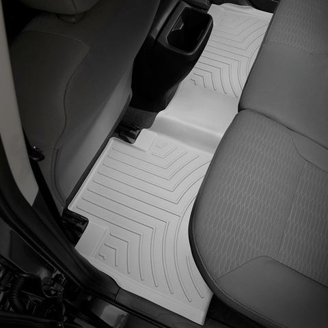 WeatherTech Rear DigitalFit FloorLiner | Grey - 2016+ Toyota Tacoma - TheYotaGarage