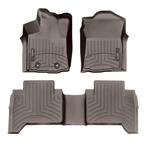 WeatherTech Front & Rear DigitalFit FloorLiner | Cocoa - 2016+ Toyota Tacoma - TheYotaGarage