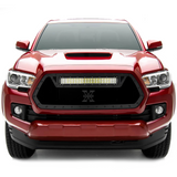 "T-Rex Black Stealth Torch Grille w/20"" LED Light - 2016+ Toyota Tacoma (6319411-BR) - TheYotaGarage"