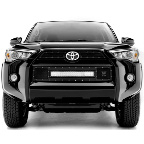 "T-Rex TORCH Series 20"" LED Light Bar Grille (All Black) - 2014+ Toyota 4Runner (6319491-BR) - TheYotaGarage"