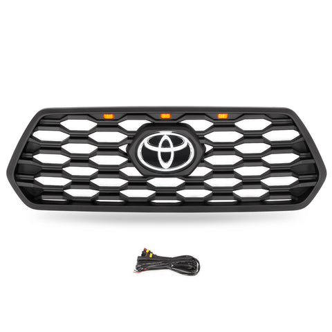 TRD OFF Road Style Grille / w LED Lights - 2016+ Toyota Tacoma - TheYotaGarage