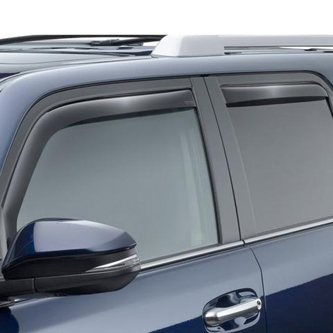 WeatherTech Front & Rear Side Window Deflectors | Dark Smoke - 2014+ Toyota 4Runner (82531) - TheYotaGarage