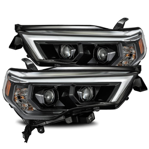 AlphaRex LUXX-Series LED Projector Headlights Alpha-Black 2014+ Toyota 4Runner (880720) - TheYotaGarage