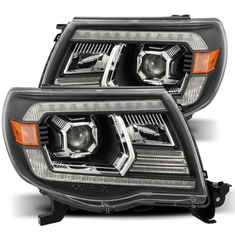 AlphaRex LUXX-Series LED Projector Headlights Black - 2005-2011 Toyota Tacoma ( 880741) - TheYotaGarage