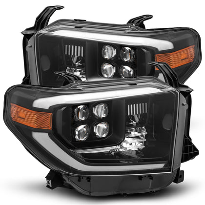 AlphaRex NOVA-Series LED Projector Headlights Alpha-Black - 2014+ Toyota Tundra (880728) - TheYotaGarage