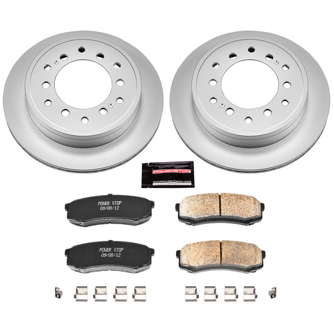 PowerStop Z17 Rear Brake Kit Pads and Rotors 2014+ Toyota 4Runner (CRK5875) - TheYotaGarage