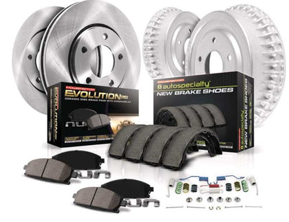 PowerStop OE Front and Rear Brake Kit Pads Rotors and Drums 2016+ Toyota Tacoma (K15231DK) - TheYotaGarage