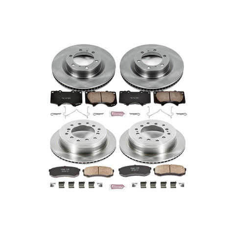 PowerStop OE Front and Rear Brake Kit Pads and Rotors 2014+ Toyota 4Runner (KOE5874) - TheYotaGarage