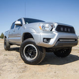 Method 304 Double Standard Wheel | Matte Black/Mach Lip - Toyota 2016+ Tacoma/ 2014+ 4Runner - TheYotaGarage