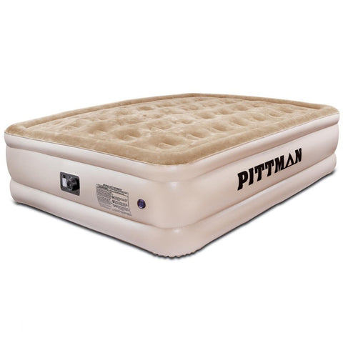 Pittman Queen Comfort Double High Air Mattress with electrical built-in pump (PPI-QCDH2) - TheYotaGarage