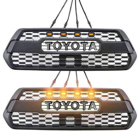 TRD Pro Style Grille w/ LED Lights - 2016+ Toyota Tacoma - TheYotaGarage
