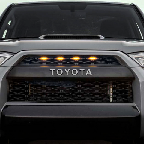 TRD Pro Style Grille w/4 LED Lights - 2014+ Toyota 4Runner - TheYotaGarage