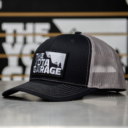 TheYotaGarage v.1 Patch Trucker Hat (Black/Grey) - TheYotaGarage