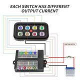 Cali Raised 8 Switch Accessory Control System w/ Blue Backlighting (CRAAM0015) - TheYotaGarage