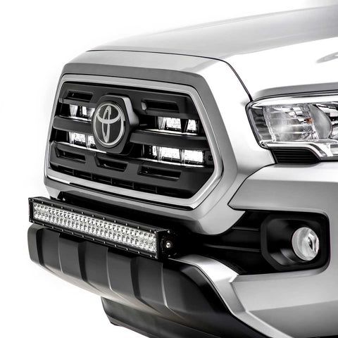 ZROADZ Front Bumper Center Mount Kit w/30 Double Row LED Bar - 2016+ Toyota Tacoma (Z329511-KIT-D) - TheYotaGarage