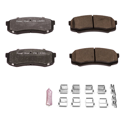 PowerStop Z36 Rear Brake Pads 2014+ Toyota 4Runner (Z36-606) - TheYotaGarage