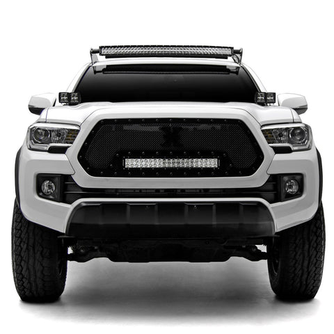 "ZROADZ Hood Hinges Mounting Kit w/4 3"" POD LED Lights - 2016+ Toyota Tacoma (Z369401-KIT4) - TheYotaGarage"