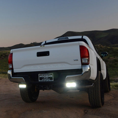 "ZROADZ Rear Bumper Frame Light Bar Mount Kit w/2 6"" LEDs - 2016+ Toyota Tacoma (Z389401-KIT) - TheYotaGarage"
