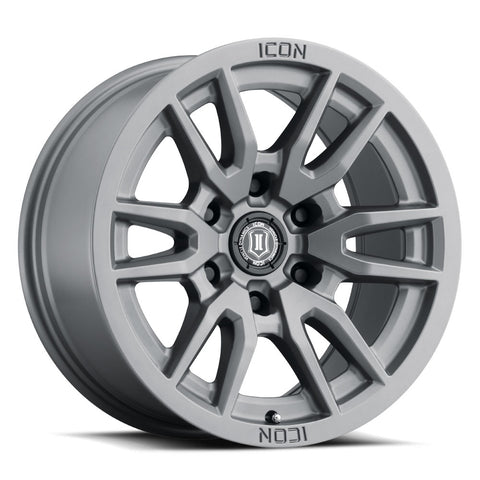 Icon Alloys Vector 6 Wheel | Titanium - Toyota 2016+ Tacoma/2014+ 4Runner - TheYotaGarage