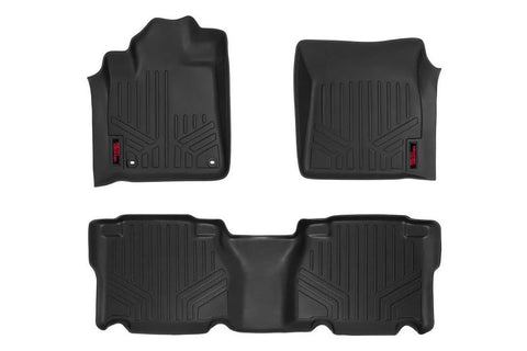 Rough Country Black Heavy Duty Floor Mats | 2014+ Toyota Tundra - TheYotaGarage