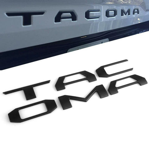 Tacoma 3D Raised Tailgate Letter Inserts  - 2016+ Toyota Tacoma (trd pro style) - TheYotaGarage