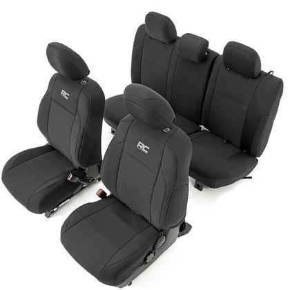 Rough Country Neoprene Black Seat Covers | 2016+ Toyota Tacoma - TheYotaGarage