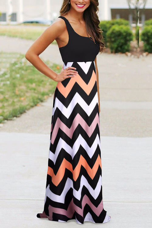 31Styles Colorful Wavy Dress