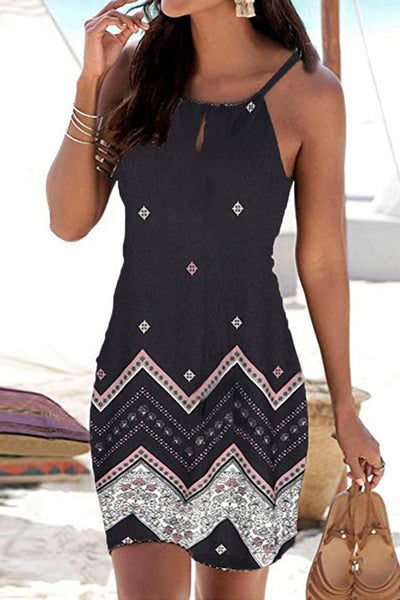 31Styles Printed Sling Sleeveless Dress