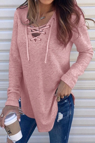 31Styles Venidress Casual Lace-up Knitting Shirts
