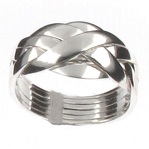 Sterling Silver 6 Band Puzzle Ring