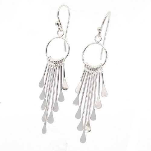 Sterling Silver Stick Drop Earrings