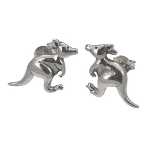 Sterling Silver Kangaroo Stud Earrings