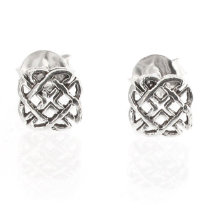 Sterling Silver Celtic Knotwork Design Stud Earrings