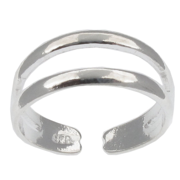 Sterling Silver Double Band Toe Ring