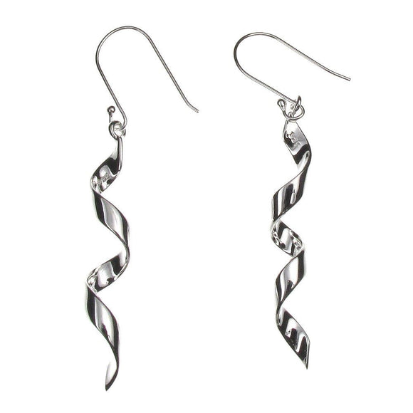 Sterling Silver Twist Drop Earrings