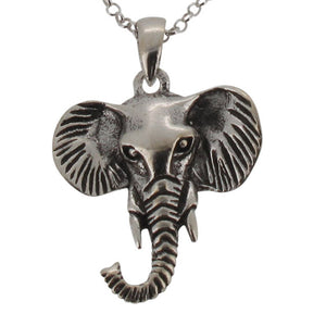 Sterling Silver Elephant Head Pendant and Chain