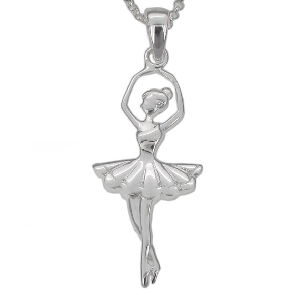Sterling Silver Ballerina Pendant and Chain