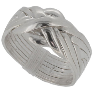 Sterling Silver 8 Band Puzzle Ring