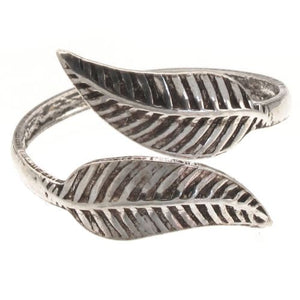 Sterling Silver Leaf Design Toe Ring